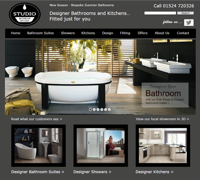 Bathroom kitchen studio web design portfolio for Decorating sites